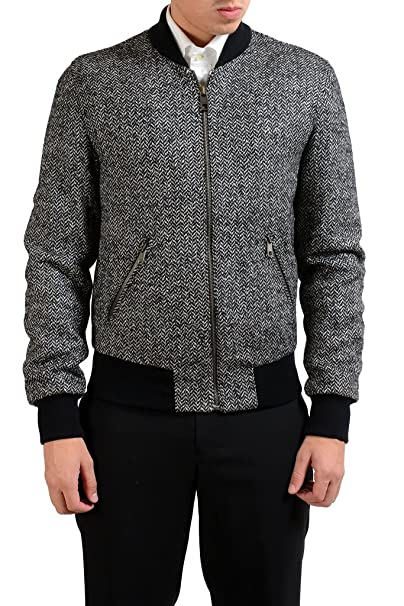 hot-selling fashion complete in specifications 2019 wholesale price Amazon.com: Dolce & Gabbana Men's Wool Full Zip Bomber ...