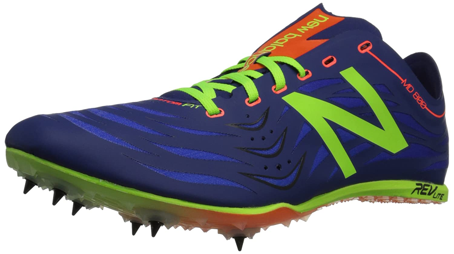 New Balance Men's MD800V4 Track Spike Shoe B00V3MW9C6 10.5 D(M) US|Blue/Lime