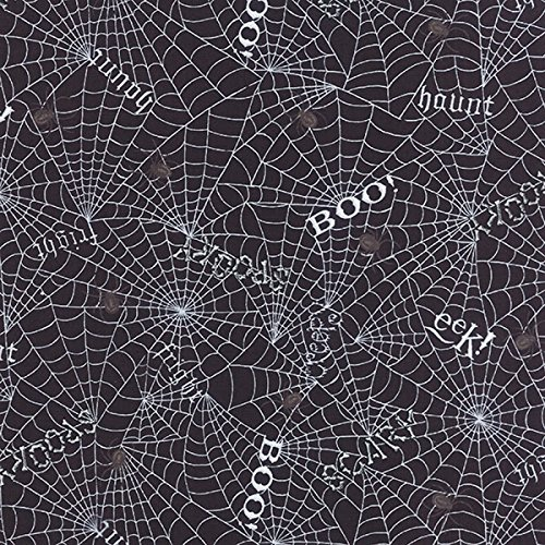 Moda Deb Strain Bewitching Halloween Webs Words