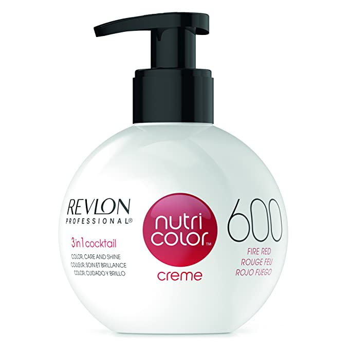 Revlon Professional Nutri Color Crema 600, Rojo Fuego, 270 ml: Amazon.es: Belleza