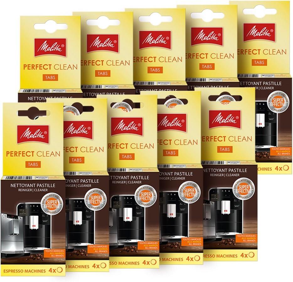 Melitta - Juego de 10 – pastillas/limpieza clean cafetera expreso ...
