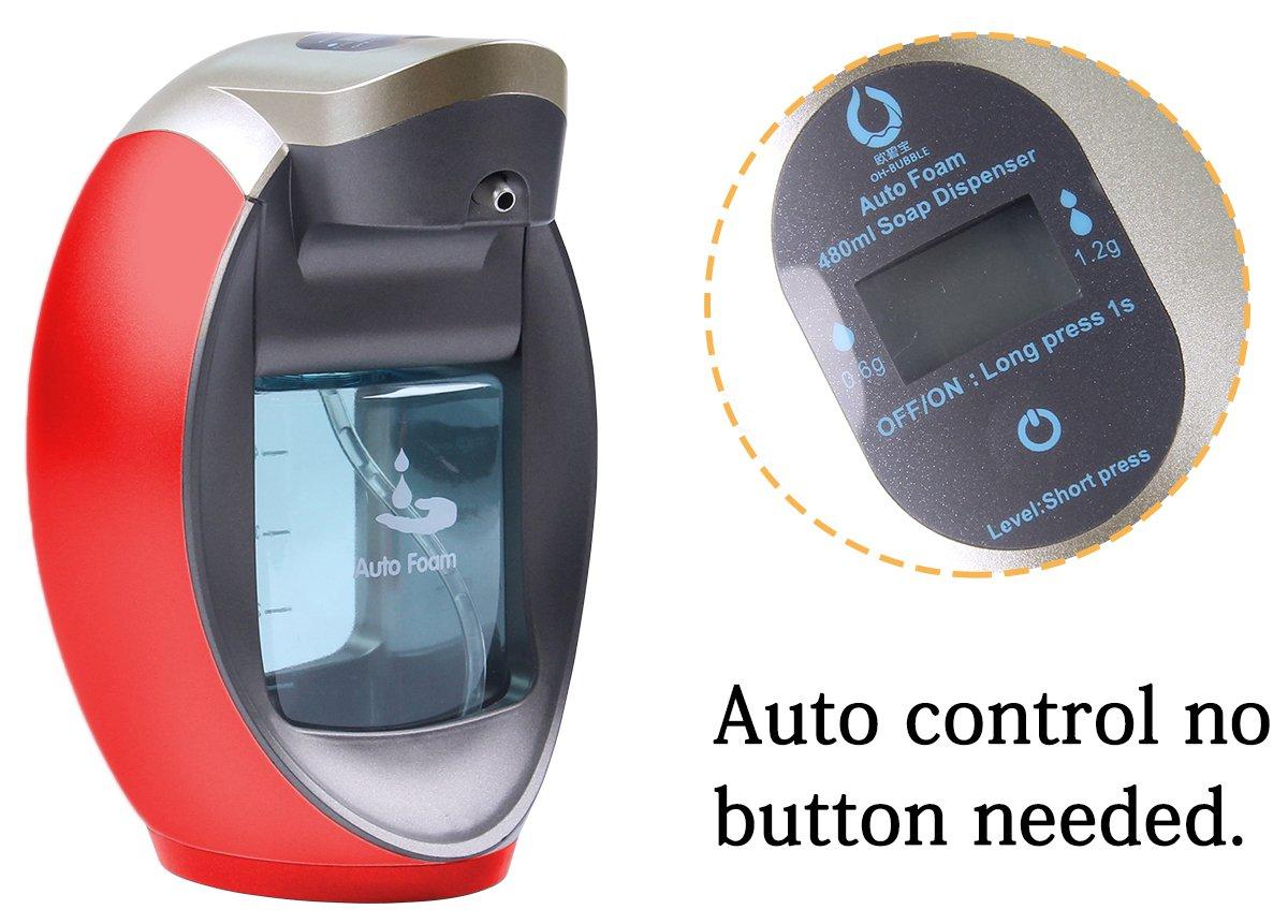 yooap dispensador de jabón automático dispensador de jabón líquido 480 ml 2  modo ajustable Sensor de espuma Bomba  Amazon.es  Juguetes y juegos 667450baf660