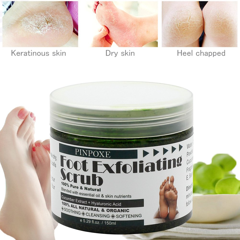 Foot Scrub, Foot Exfoliating Scrub Gel, Foot Callus Remover, Softens Feet, Remove Foot Callus & Dead Skin Cleansing Moisturizing ,Thick Cracked Rough Dead Dry Heel Feet With Natural Phytoextraction by BUOCEANS (Image #3)