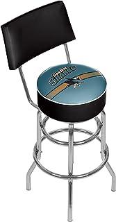 Trademark Gameroom NHL Swivel Bar Stool with Back-San Jose Sharks