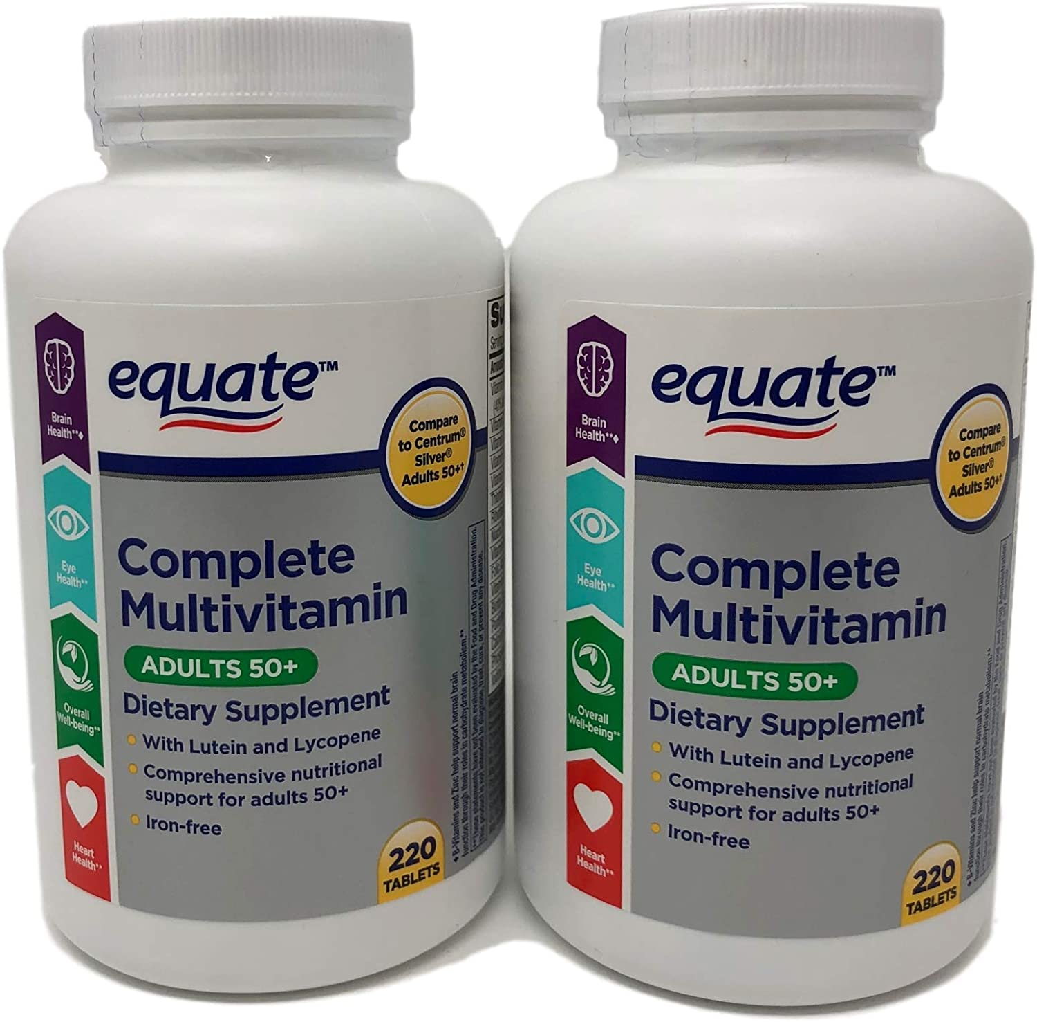Equate Mature Adult 50 One Daily Complete Multivitamin Compare to Centrum Silver Adults 50 220 Count 2