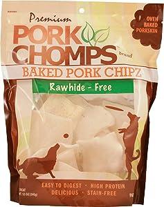 Premium Pork Chomps Baked Chipz Dog Treats, Pork, 12 Ounce, 2 Pack