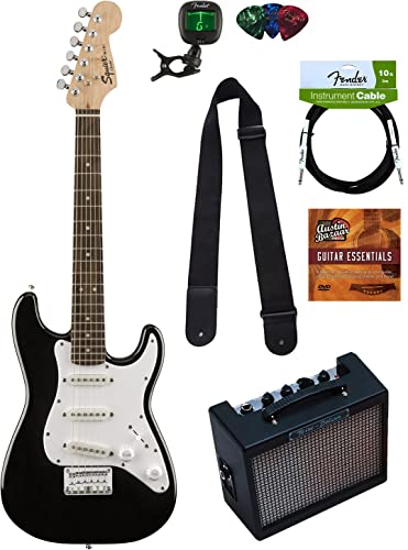 Squier by Fender Mini Strat Electric Guitar Bundle