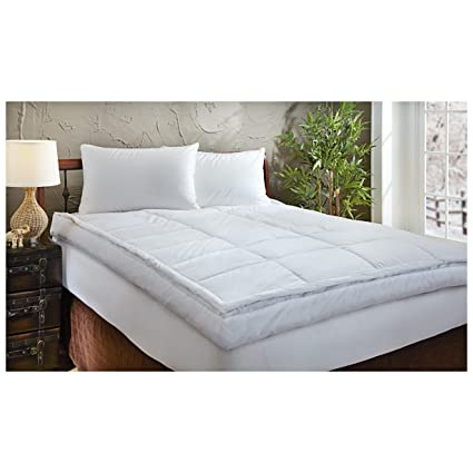 Amazon Com 5 Inch Down Top Feather Bed King Home Kitchen