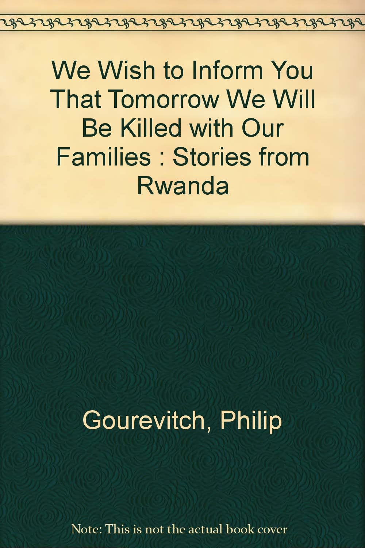 gourevitch we wish to inform you