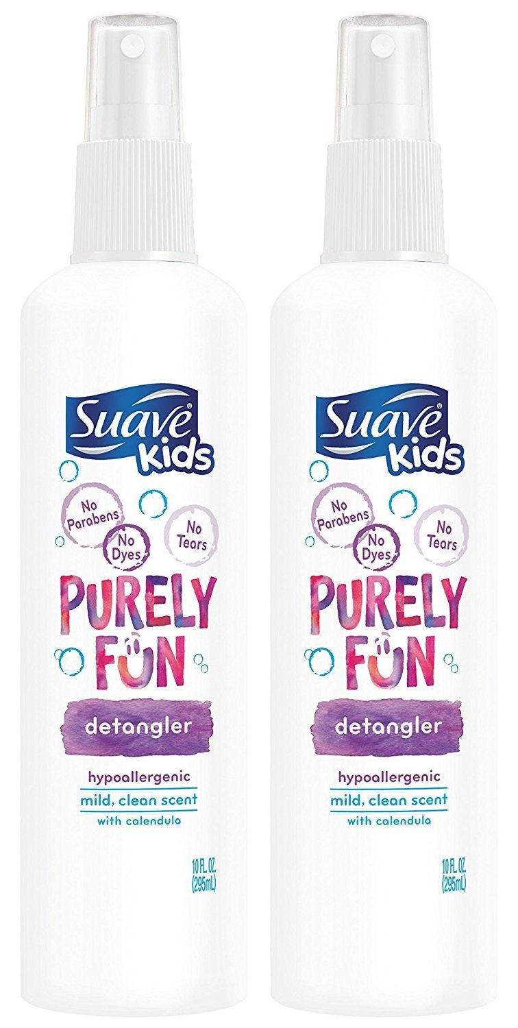 Suave Kids Detangler, Purely Fun, 10 Ounce (Pack of 2) by Suave