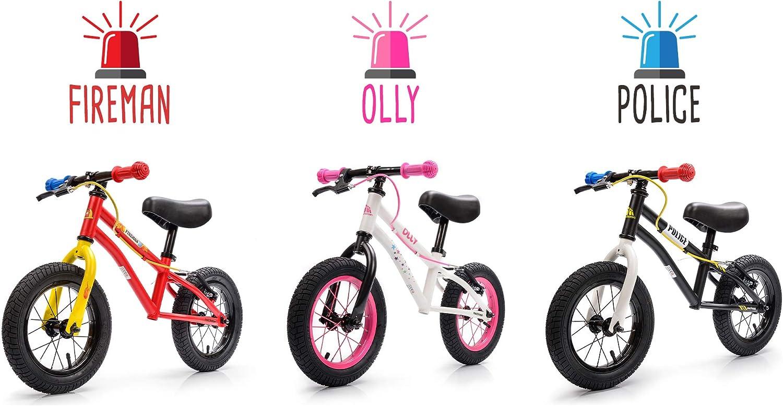 meteor Bicicleta sin Pedales para Niños 2-6 años hasta 30 kg Ultraligera Mini Bici Bebés Infantil Andadores Bebé Equilibrio con Sillín y Manilar Regulable Ruedas bombeadas First Bike