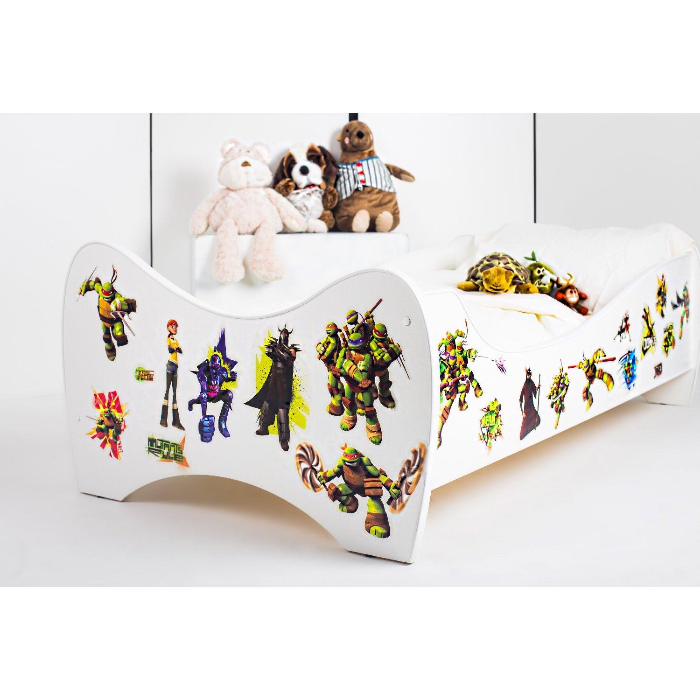 BEBEGAVROCHE Pack 8en1 cama Junior Tortugas Ninja con ...