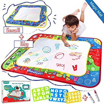 Amazon Com My Future Artist Teytoy Abc Aqua Magic Doodle Mats Zoo Series Water Drawing Mat Toy Mess Free For Painting Imagination Development Early Education For Infant Kids 2 Pack Beauty