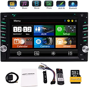 Eincar Bluetooth Auto Cd Dvd Player Kapazitiver 6 2 Zoll Touchscreen In Dash Gps Navigation 2 Din Auto Stereo Head Unit Radioempfänger Mit Auto Audio Video Monitor System Sd Karte Rückfahrkamera Auto