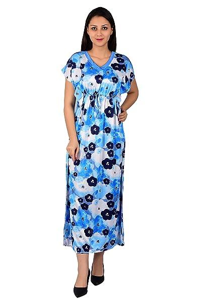 Nighty King Women s Kaftan Nighty(Gown)(NKNW 7 5efd326f1