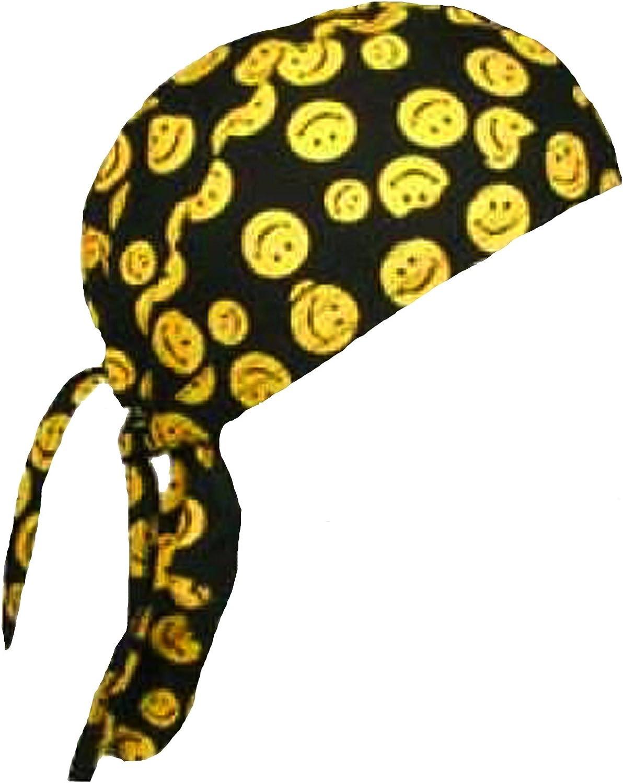 Amazon.com: Cara sonriente Doo Rag Happy Cráneo Pac para ...