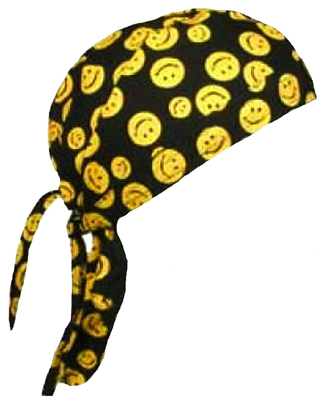 Amazon.com: Smiley Face Doo Rag Happy Skull Cap Mens or Womens with ...