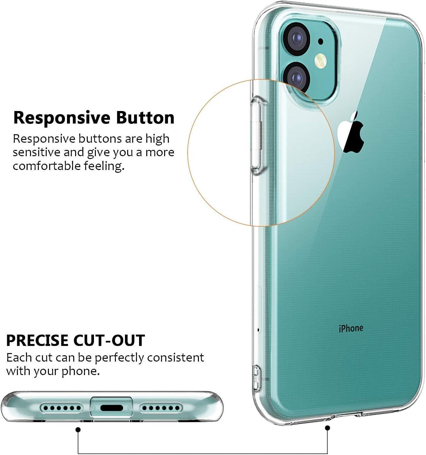 Enova - Carcasa de Gel para iPhone 11 (6,1 Pulgadas, 2 Unidades ...