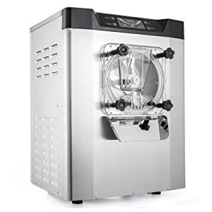 VEVOR Commercial Ice Cream Machine 1400W 20/5.3Gallon Per Hour Hard Serve Ice Cream Maker with LED Display Screen Auto Shut-Off Timer One Flavors Perfect for Restaurants Snack Bar supermarkets