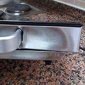 Orbegozo PCE 5000 - Placa vitrocerámica portatil, 2000 W de potencia, cuerpo de acero inoxidable, termostato regulable: Amazon.es: Hogar