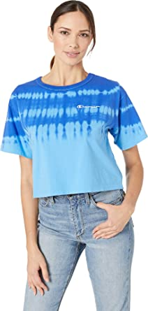b1391a72251 Champion LIFE Women s Streak Dye Cropped Tee at Amazon Women s Clothing  store