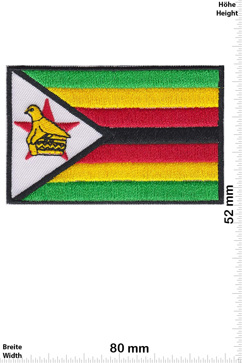 Patch - Simbabwe - Zimbabwe - Flag -Pays -Mix -Zimbabwe - Iron on Applique Embroidery Écusson brodé Costume Cadeau- Give