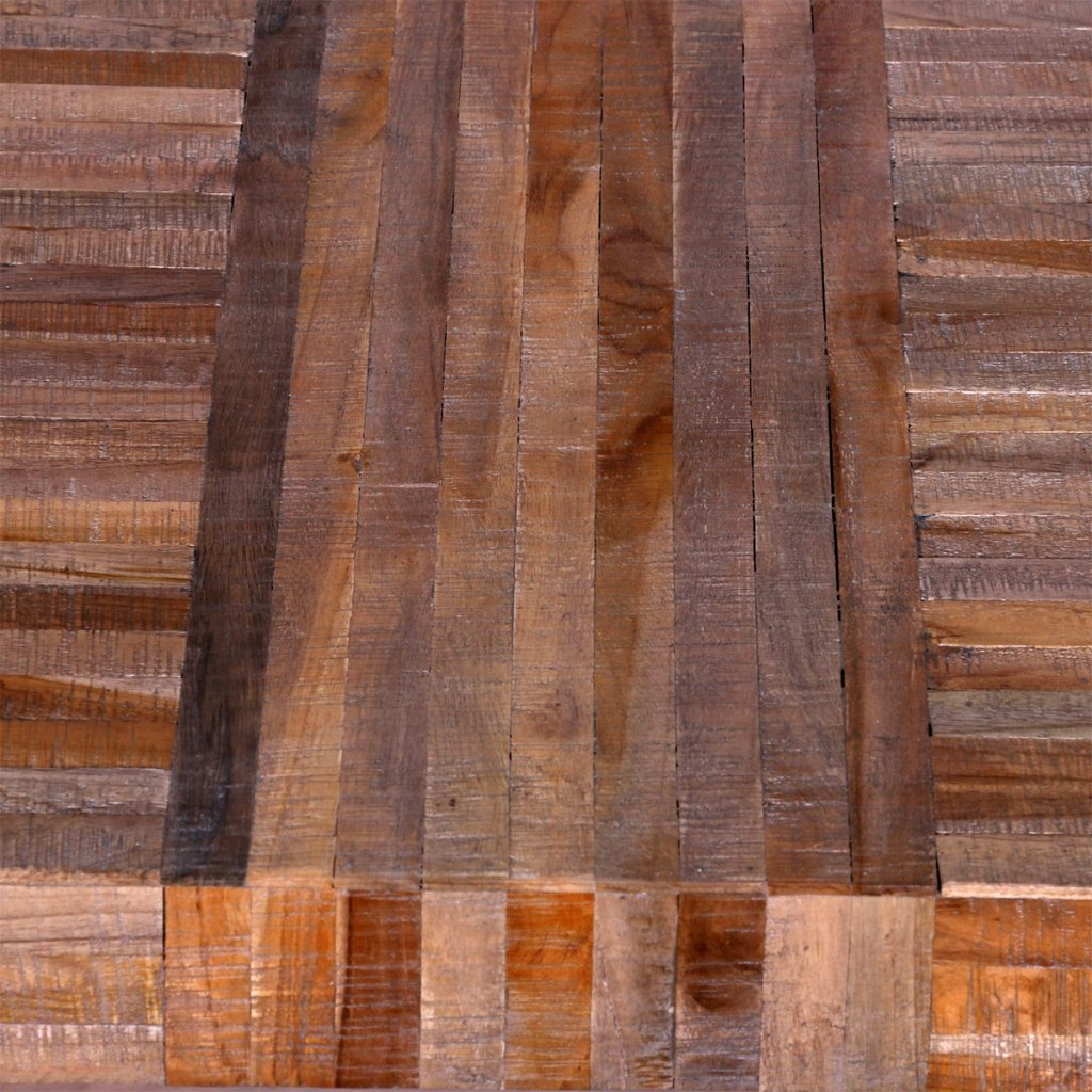 Anself Kaffeetisch Beistelltisch Balkontisch aus Teakholz 119 x 58 x 76 cm
