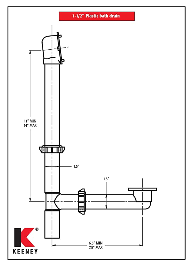 Plastic Trip Lever Bath Drain Assembly plumb pak corporation 64w-k White