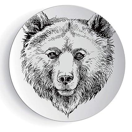 Amazoncom 7 3d Print Ceramic Decorative Plate Animal