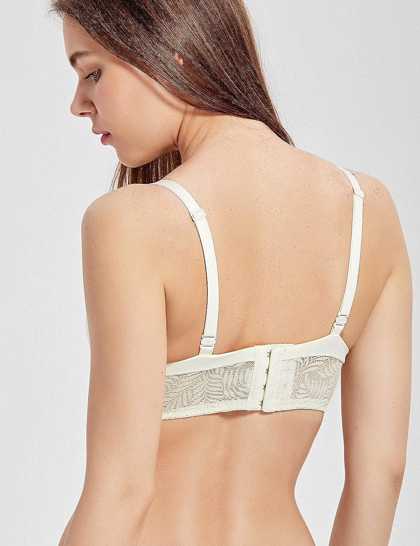 MOMANDA Womens Wirefree Comfort Maternity Soft Cup Lace Nursing Bra at Amazon Womens Clothing store: