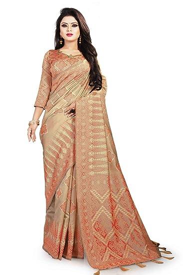 5bc4cb273c Saree For Women Party Wear Red Sana Silk Saree cotton sarees new collection  Half Sarees Offer Designer ...