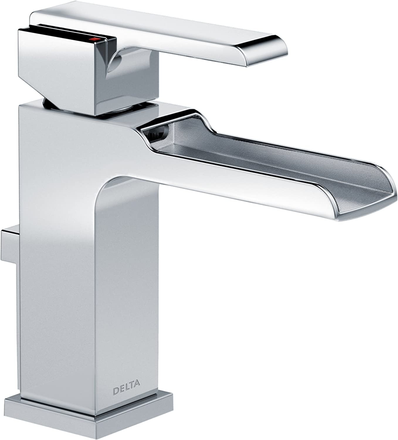 Delta Faucet 568LF MPU Ara Single Handle Single Hole Waterfall Bathroom  Faucet, Chrome     Amazon.com