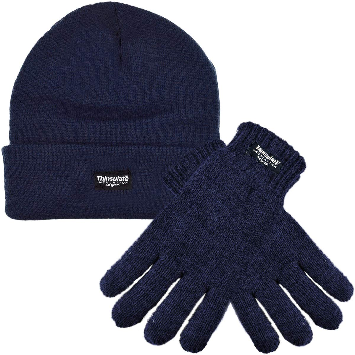 Kids Thermal Thinsulate Hat and Gloves Set