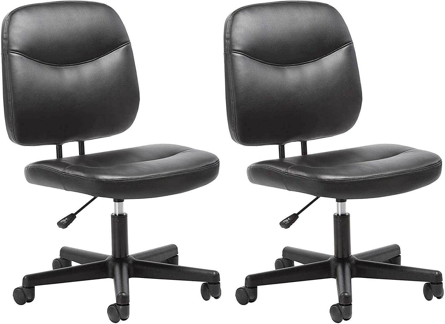 Essentials Leather Task Chair – Ergonomic Adjustable Office Chair, Black ESS-6005 Pack of 2