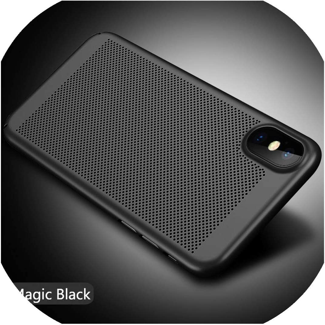 Matte Heat Dissipation Phone Case for iPhone 11 Pro MAX 2019 XS MAX XR X Cooling Cover PC Shell for iPhone 6 6S 7 8 Plus 5 5S SE,for iPhone 11ProMax,Black