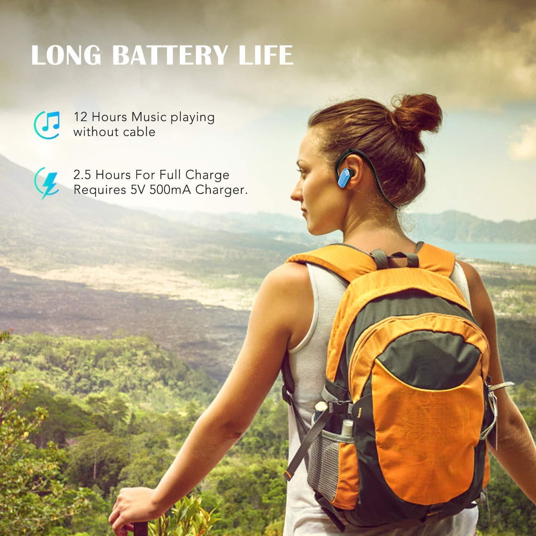 Azul Operaci/ón F/ácil etc AGPTEK Auriculares Reproductor MP3 8 GB M/úsica sin P/érdida Yoga Diferentes Tama/ños Almohadillas Viaje Todo en Uno Ideal para Correr