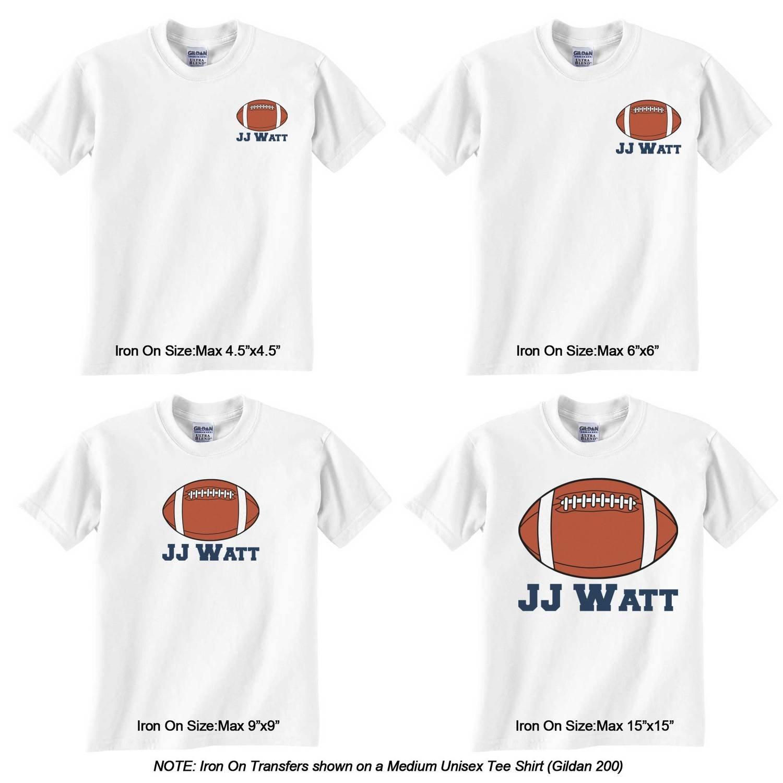 Hierro en transferencia gráfico camiseta de fútbol (personalizado): Amazon.es: Juguetes y juegos