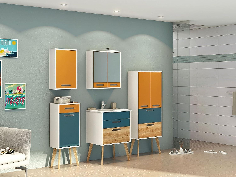 Badezimmer Schrank Mobel Bad Badezimmer Komplett Set Skane Iv 7