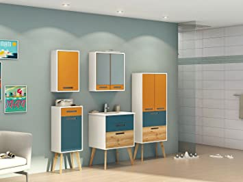 Möbel Für Badezimmer | Badezimmer Schrank Mobel Bad Badezimmer Komplett Set Skane Iv 7
