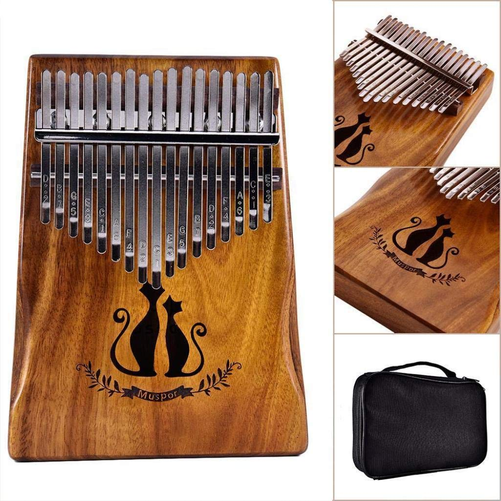 difcuyg5Ozw 17 Key Couple Cats Wooden Kalimba African Acacia Portable Mbira Thumb Piano Tune Hammer Instruments by difcuyg5Ozw