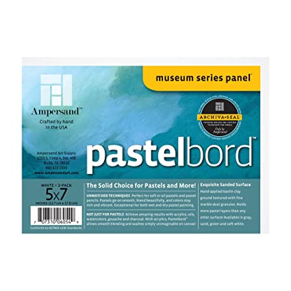 amazon com ampersand pastelbord 5 in x 7 in white pack of 3