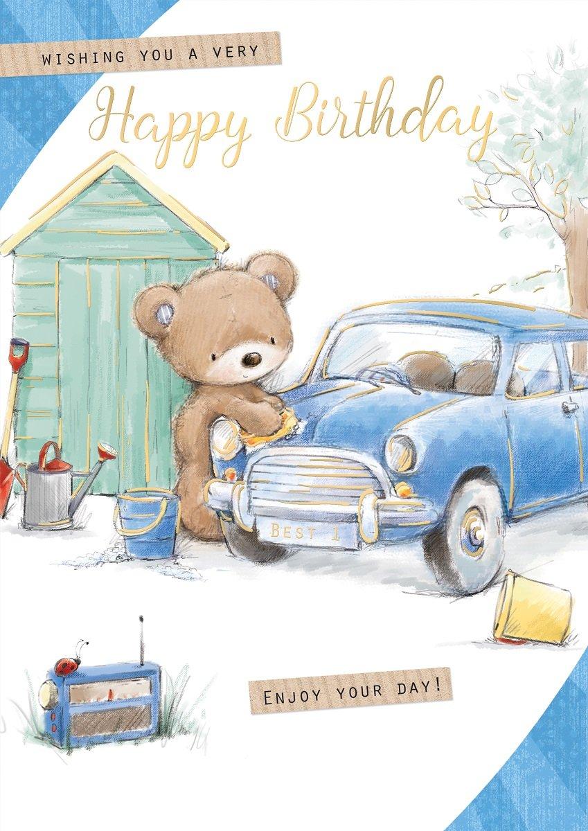 Amazon.com: Tarjeta de cumpleaños abierta para hombre ...