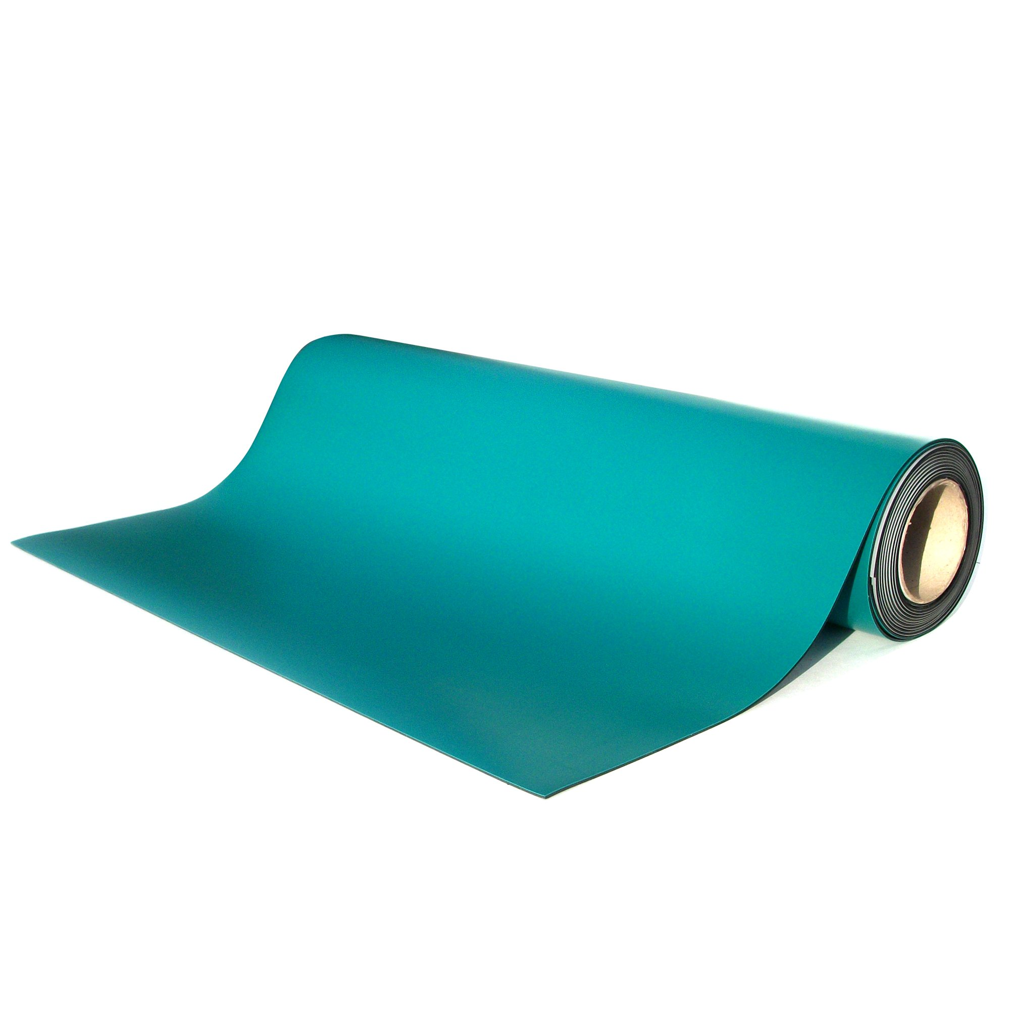 ESD 2 Layer Smooth Rubber Work Surface Mat 36'' x 50' Roll - Green
