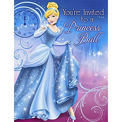 amazon com sparkle cinderella invitations w env 8ct toys games