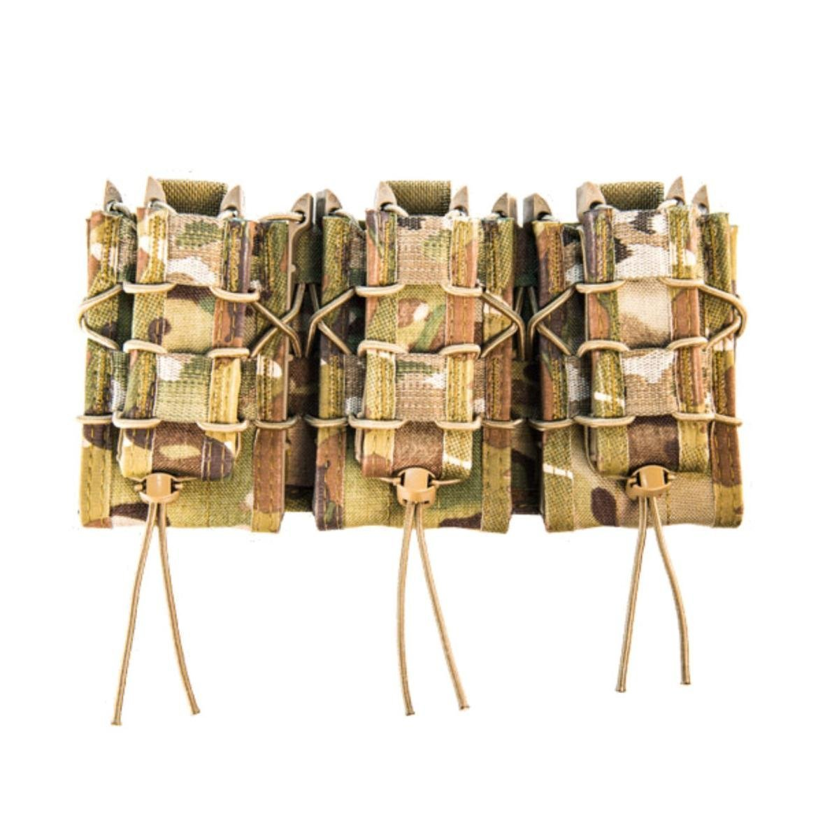 High Speed Gear MOLLE Double Decker TACO Shingle, 3 Rifle/Pistol Mag Pouches - MultiCam by High Speed Gear