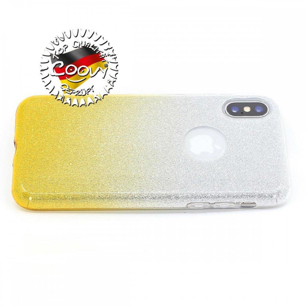 Design con Brillantini Scintillanti Colore Viola Custodia in plastica e Silicone TPU COOVY/® Custodia per Apple iPhone X//XS Guscio Protettivo Leggero e Sottile