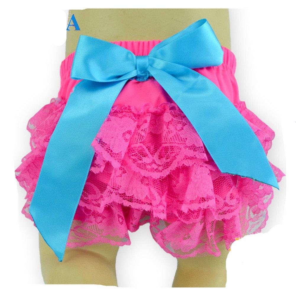 2 Pack Toptim Baby Girls Bloomer Headband Set Lace Diaper Covers