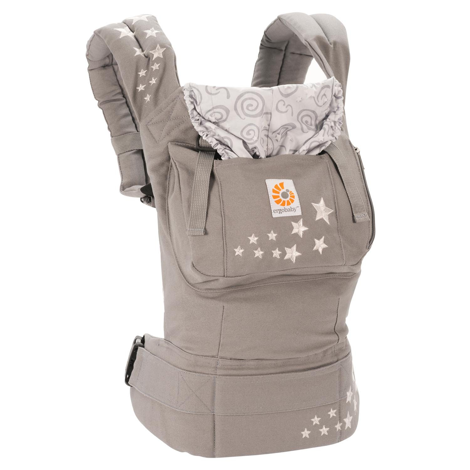 Ergobaby Carrier, Original 3-Position Baby Carrier with Lumbar Support and Storage Pocket, Galaxy Grey