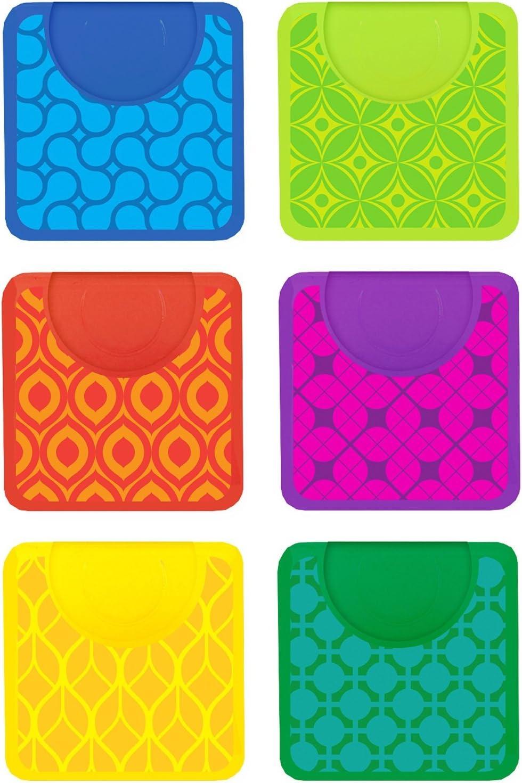 Pack of 12 Retro Design Magnetic Clip 1.5 Inch