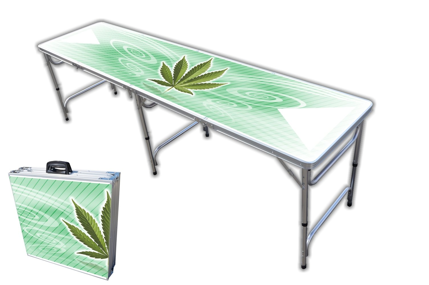 8-Foot Professional Beer Pong Table - High Times Graphic by PartyPongTables.com